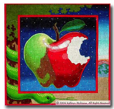 click here to view larger image of Apple Pillow II (hand painted canvases)