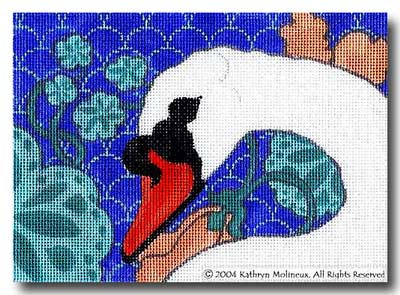 click here to view larger image of Details - Mute Swan (hand painted canvases)