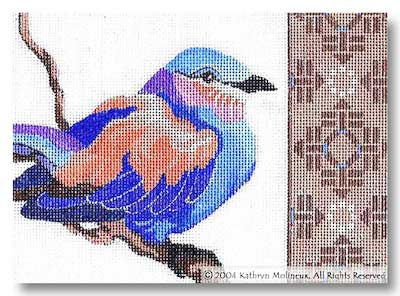 click here to view larger image of Details - Lilac Roller (hand painted canvases)