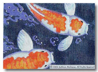 click here to view larger image of Details - Koi (hand painted canvases)