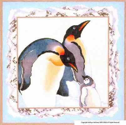 click here to view larger image of Emperor Penguins (hand painted canvases)