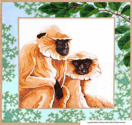 click here to view larger image of Langur Monkeys (hand painted canvases)