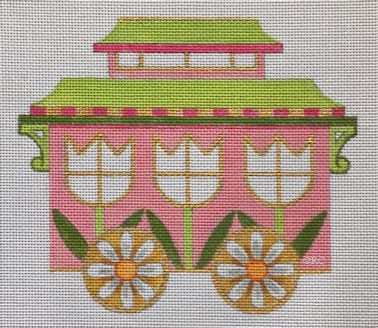 click here to view larger image of Easter Train Caboose (hand painted canvases)
