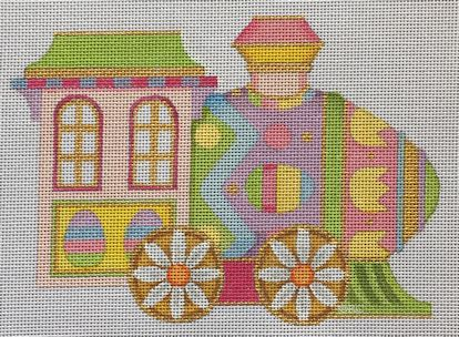 click here to view larger image of Easter Train Engine (hand painted canvases)