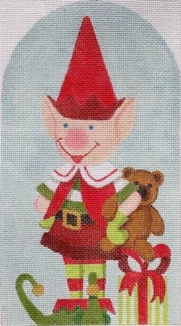 click here to view larger image of Santas Red Elf (hand painted canvases)
