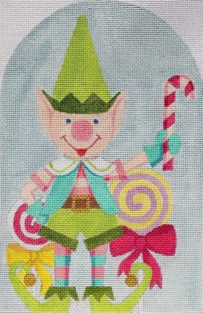 click here to view larger image of Santas Green Elf (hand painted canvases)