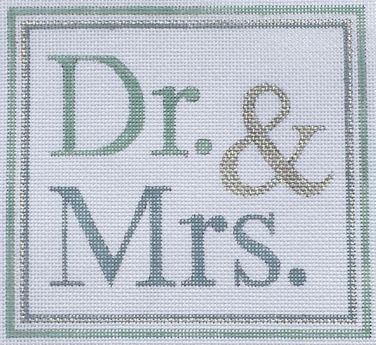 click here to view larger image of Dr and Mrs (hand painted canvases)