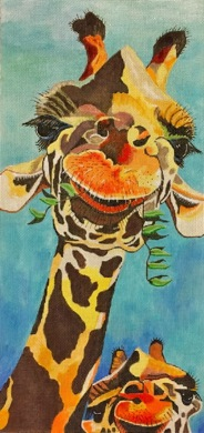 click here to view larger image of Hey! Whats Up? (hand painted canvases)