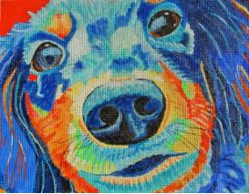 click here to view larger image of Rowdy Pup (hand painted canvases)