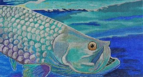 click here to view larger image of Tarpon Blues (hand painted canvases)