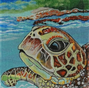 click here to view larger image of Loggerhead Reflections (hand painted canvases)