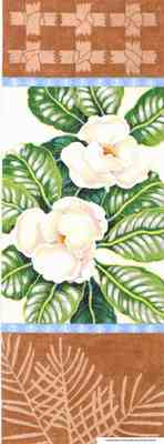 click here to view larger image of Magnolia Scroll (hand painted canvases)