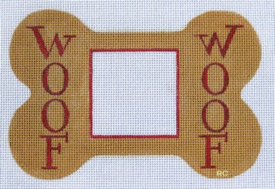 click here to view larger image of Woof Woof Frame (hand painted canvases)