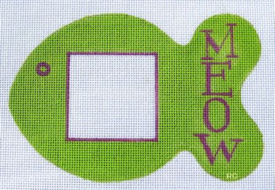 click here to view larger image of Meow Frame (hand painted canvases)