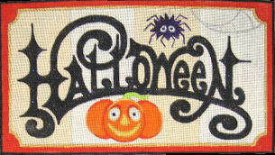 click here to view larger image of Halloween (hand painted canvases)
