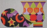 click here to view larger image of Halloween Boot (hand painted canvases)