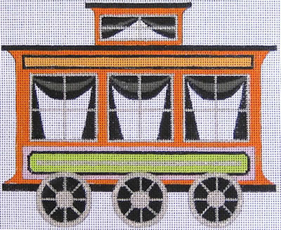 click here to view larger image of Halloween Train Cahearse (hand painted canvases)