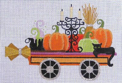 click here to view larger image of Halloween Train Flat Car (hand painted canvases)