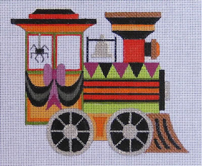 click here to view larger image of Halloween Train Engine (hand painted canvases)