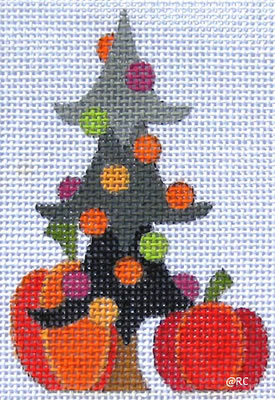 click here to view larger image of Halloween Mini Tree (hand painted canvases)