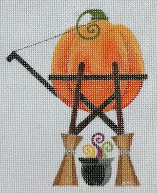 click here to view larger image of Pumpkin Water Tower (hand painted canvases)