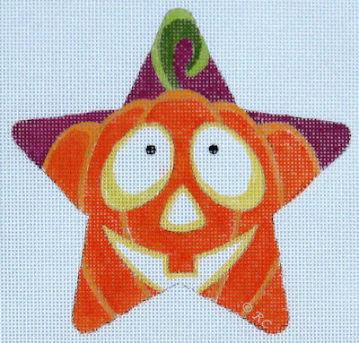 click here to view larger image of Pumpkin Star (hand painted canvases)
