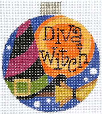 click here to view larger image of Diva Witch Ornament (hand painted canvases)