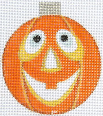 click here to view larger image of Pumpkin Ornament (hand painted canvases)
