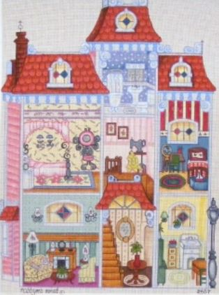 click here to view larger image of Dollhouse (hand painted canvases)