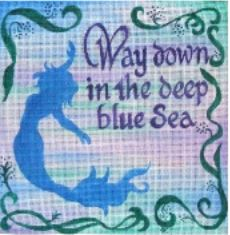 click here to view larger image of Fairy Tales - Little Mermaid (hand painted canvases)