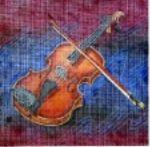 click here to view larger image of Violin (hand painted canvases)