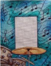 click here to view larger image of Percussion Frame (hand painted canvases)