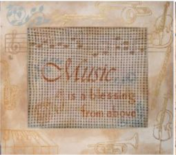 click here to view larger image of Music Blessing Frame (Custom painted frames)