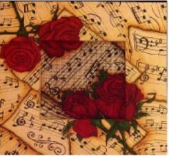 click here to view larger image of Sheet Music Frame (Custom painted frames)