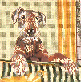 click here to view larger image of Airedale Terrier - 18ct (hand painted canvases)