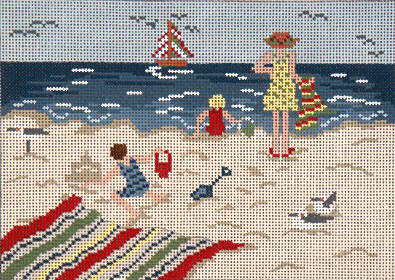 click here to view larger image of By The Seaside - 13ct (hand painted canvases)