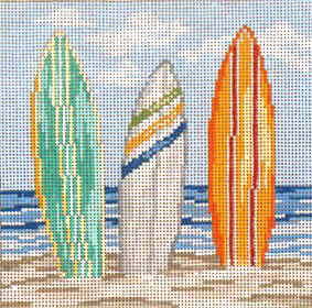 click here to view larger image of Surfs Up - 18ct (hand painted canvases)