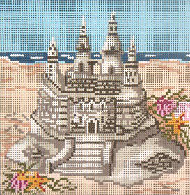 click here to view larger image of Sand Castle - 18ct (hand painted canvases)