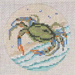 click here to view larger image of Blue Crab Ornament (hand painted canvases)