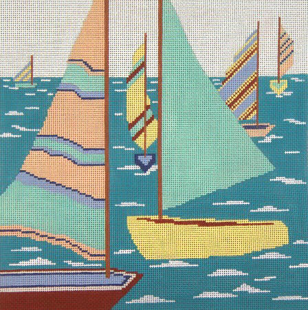 click here to view larger image of Passing Sails (hand painted canvases)