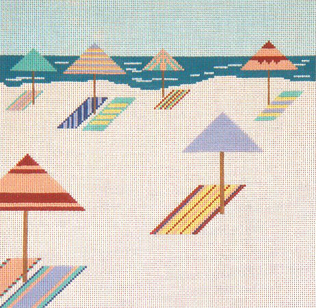 click here to view larger image of Quiet Beach (hand painted canvases)