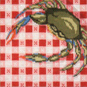 click here to view larger image of Crab on Tablecloth - 13ct (hand painted canvases)