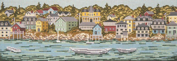 click here to view larger image of Harbor View (hand painted canvases)