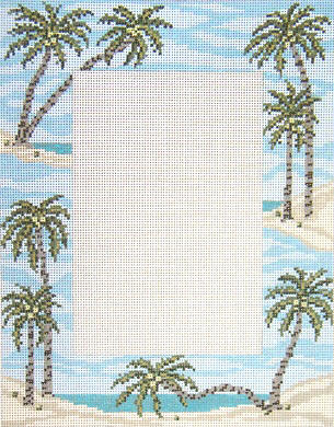 click here to view larger image of Palm Tree Frame (hand painted canvases)