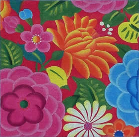 click here to view larger image of Summer Floral (hand painted canvases)
