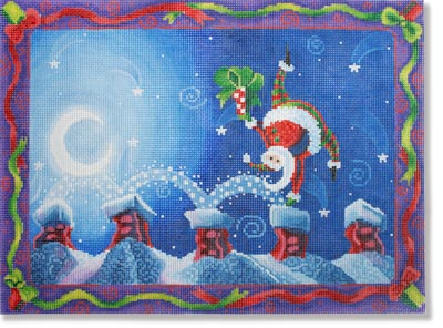 click here to view larger image of Cartwheeling Santa (hand painted canvases)