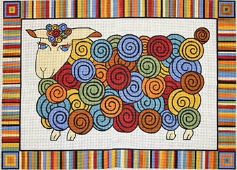 click here to view larger image of Colorful Coat - Sheep (hand painted canvases)
