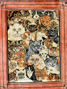 click here to view larger image of Cat Collage (hand painted canvases)