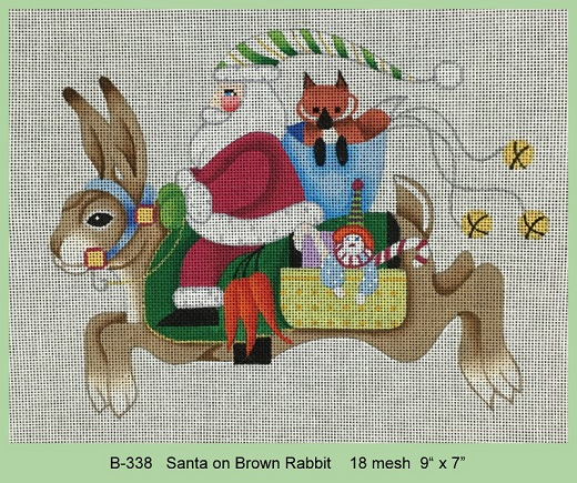 Santa On Brown Rabbit - click here for more details