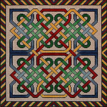 click here to view larger image of Celtic Knot 1 (hand painted canvases)